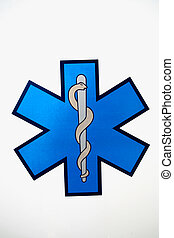 Medical sign isolated on a white background