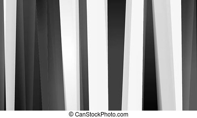 Black and white stripes abstract video animation - Black and...