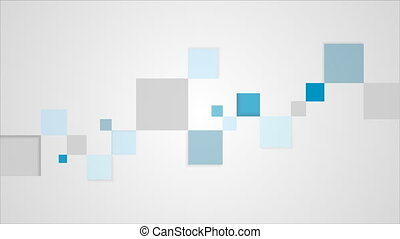 Blue and grey geometric squares video animation - Blue and...