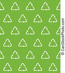 recycle vector seamless pattern