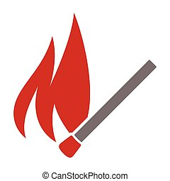 No fire sign - Vector illustrations of the No fire sign