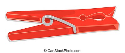 wooden clothes pin - Vector illustrations of the wooden...