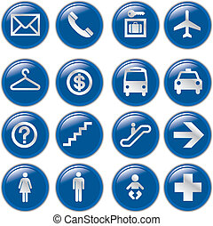 Airport and Travel Icons, Vector