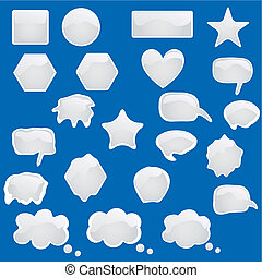 Set of bubbles icons symbols t