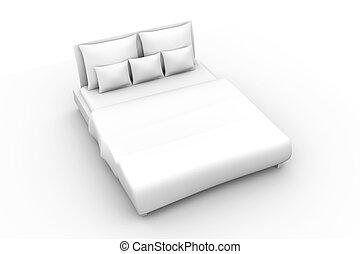 Bed - 3D rendered Illustration