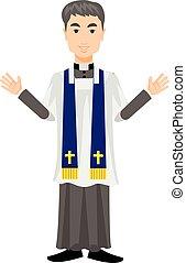 catholic priest - Catholic priest in a cassock
