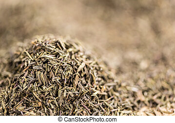 Dried Thyme (background image) - Dried Thyme full frame...