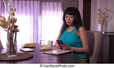 Asian Japanese Woman With Phone - Mature Japanese woman with...