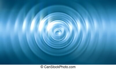 Ripples on shiny blue surface - Abstract ripples on shiny...