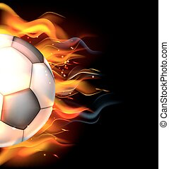 Flaming Soccer Ball - A flaming soccer football ball on fire...