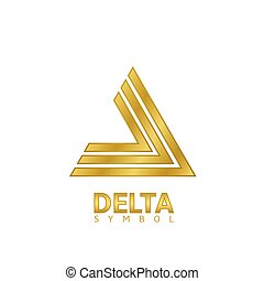 Golden Delta sign - Golden delta sign. Geometric logo...