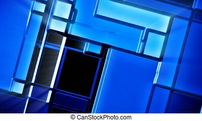 Blue shiny mosaic tiles background