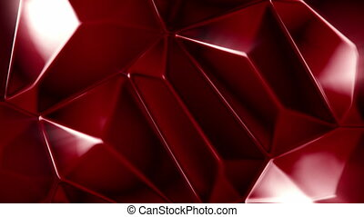Rotating red crystals background - Rotating red crystals...