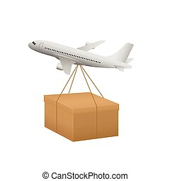 Air shipping concept - Air transportation Delivery and...