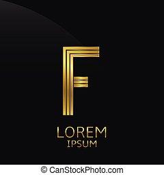 Golden F Letter