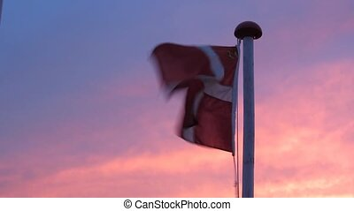 Danish Flag. Flag of Denmark at Sun - Danish Flag called...