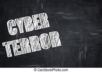 Chalkboard writing: Cyber terror background with some smooth...