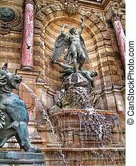 Saint Michael Fountain - Fontaine Saint-Michel or Saint...