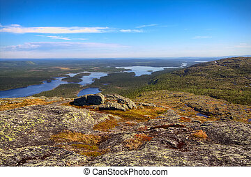 Norwegian plateau fjelds in Lapland Most Northern forest in...
