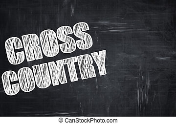 Chalkboard writing: cross country sign background with some...