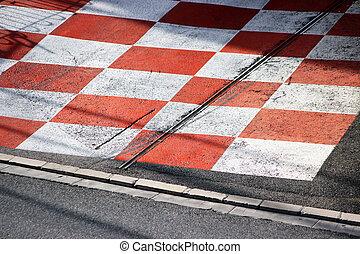 Car Race Asphalt in Monaco - Texture of Race Asphalt and...