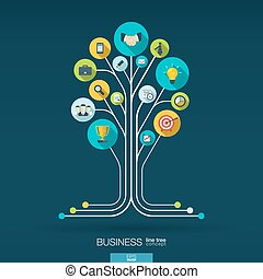 Growth tree concept for business, communication, marketing -...