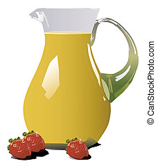 Orange Jice - Illustration of orange juice pitcher with...