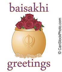 baisakhi greetings - a vector illustration in eps 10 format...