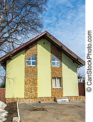 standard two-storey cottage Finished decorative stone - A...