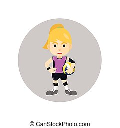 Girl playing volley ball player