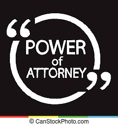 Power Of Attorney lettering Illustration design