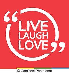 LIVE LAUGH LOVE Lettering Illustration design