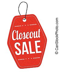 Closeout sale label or price tag - Closeout sale red leather...