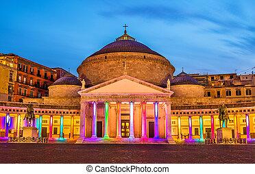 San Francesco di Paola Basilica in Naples, Italy
