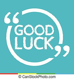 GOOD LUCK Illustration design