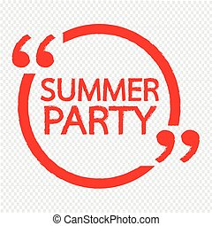 SUMMER PARTY Lettering Illustration design