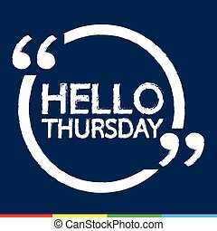 HELLO THURSDAY Illustration Design