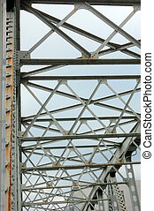 Sturdy iron bridge, which is nestled in the beam...