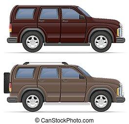 suv car vector illustration