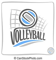 Volleyball - Abstract background on the volleyball theme