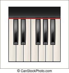 piano keys - Realistic piano keys isolated on a white...