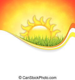 Summer background with place for your contentVector