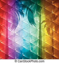 Tropical background - Summer holiday background.Tropical...