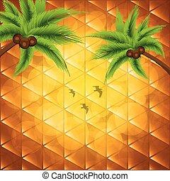 Summer holiday background - Orange summer holiday...