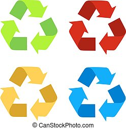 Recycle Symbol Isolated On White Ba