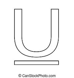 Text Underline edit icon Illustration design