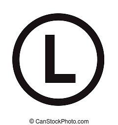 Basic font letter L icon Illustration design