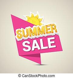 vector hot summer sale sticker .