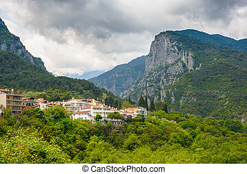 Litochoro and Olymp - Litochoro town and olympus mountains...