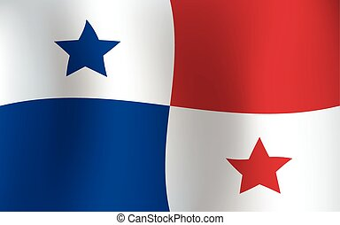 Panama Waving Flag Background Color Illustration